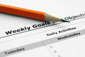 Weekly goals and objectives